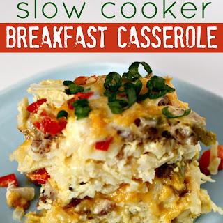 Slow Cooker Sausage Breakfast Casserole.