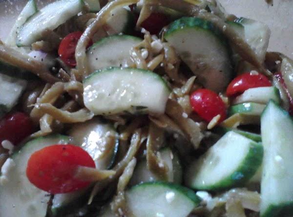 Greek Green Bean Cuke & Tomato Salad Recipe