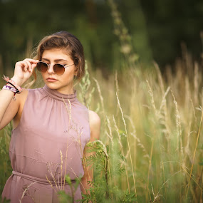 Lost... by Hurghis Vasile - People Portraits of Women ( field, natural light, nature, colors, woman, beautiful, peace, fine art, people )