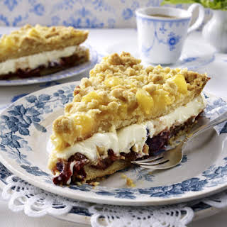 Apple and Plum Crumble Cake.