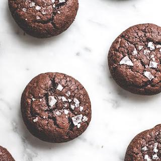 Salted Lavender Chocolate Buckwheat Cookies