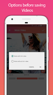 Video Sound Editor: Add Audio, Mute, Silent Video Capture d'écran