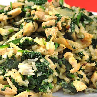 Mushrooms & Spinach Risotto