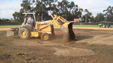 Photo: Adding amendments to be mixed into rootzone.
