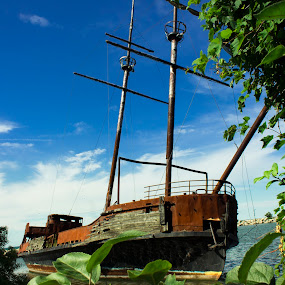 Abandon Ship by Gary Poulsen - Novices Only Landscapes ( ship, rust, abandoned,  )