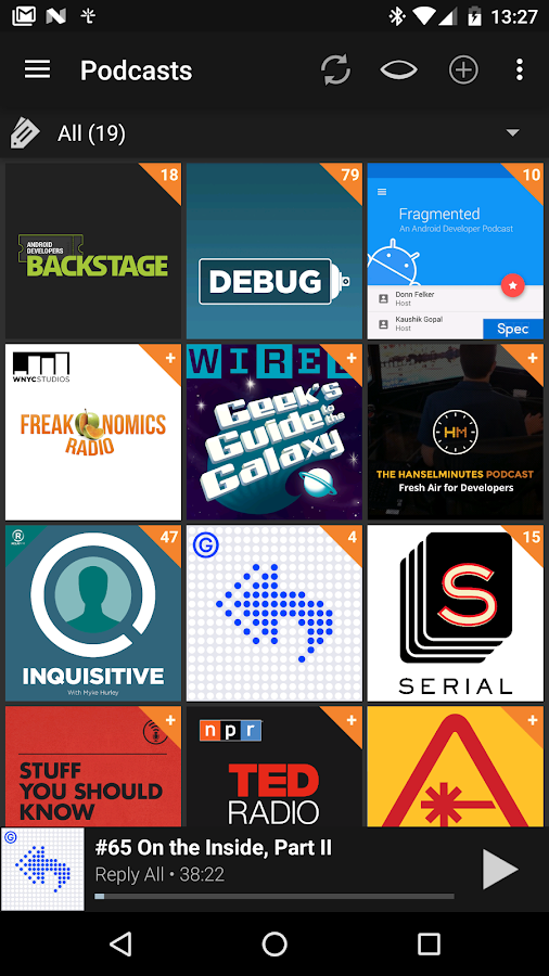 Screenshots of Podcast & Radio Addict for Android