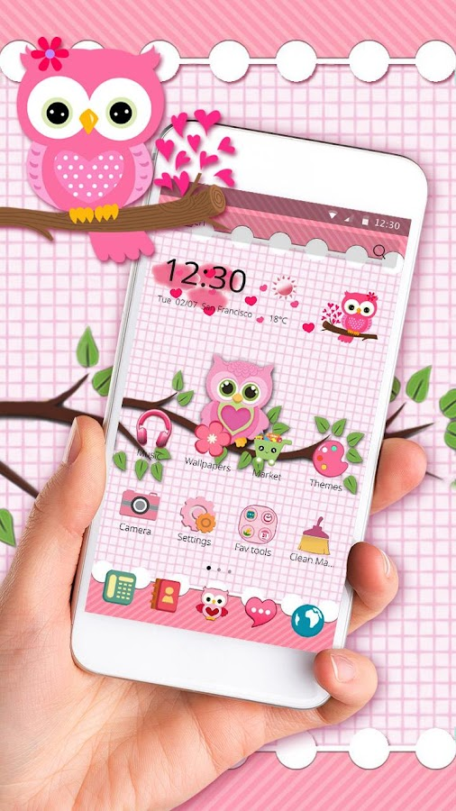 Cute Owls for Samsung/Huawei- screenshot