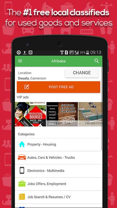 AFRIBABA Free local Ads Africa- screenshot