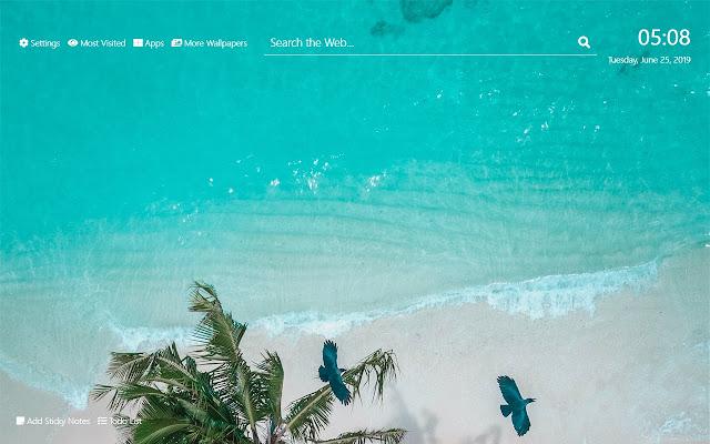 Beach Resorts Wallpaper HD New Tab Theme