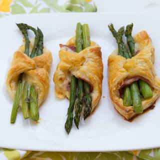 Asparagus, Ham, & Cheese Puffs.