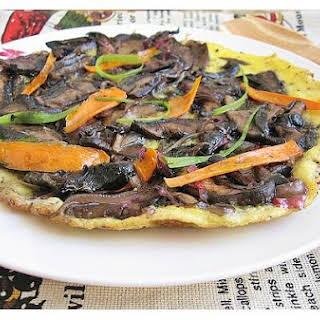 Portobello Mushroom Open-Face Omelette.