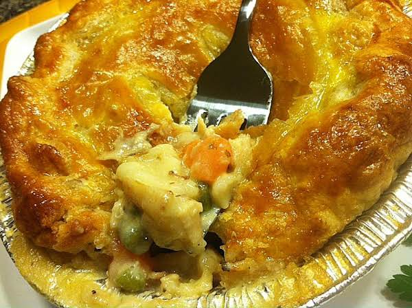 Chicken & Pierogie Pot Pie In Puff Pastry