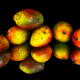 In the beauty of colourful mangos by Arvind Akki - Food & Drink Fruits & Vegetables ( nature, still life, fruits, mango,  )