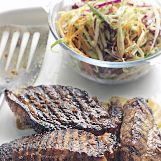 Chili and Honey BBQ Steak with Coleslaw
