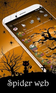 (FREE) GO SMS SPIDER WEB THEME - náhled