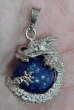 แก้วมังกร นำโชค 1 เดียวในเวบ หินลาพิส ลาซูลี (lapis lazuli) ทรงคลาสสิค จี้แบบลูกหินกลม กลิ้งไปมาได้ หายาก ทำยาก หินแท้ ทุนสูง วาววับ 1 เดียว ในเวบ จัดพิเศษ วัดใจ 10 บาท จี้หินลาพิส หุ้มสเตนเลส หินแท้ หุ้มสเตนเลส สวยงามวาววับมากๆ จัดให้เลย ที่อื่นแพงมาก