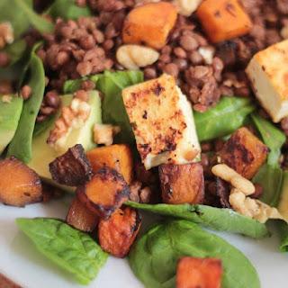 Whole Masoor Dal and Tofu salad