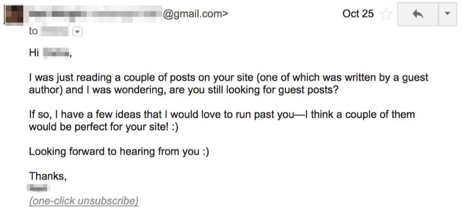 email tiếp cận của khách