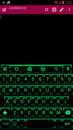 Neon Green 2 Emoji Keyboard