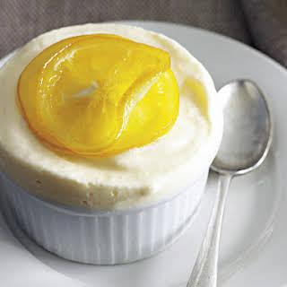 Frozen Lemon Soufflés with Candied Lemon.