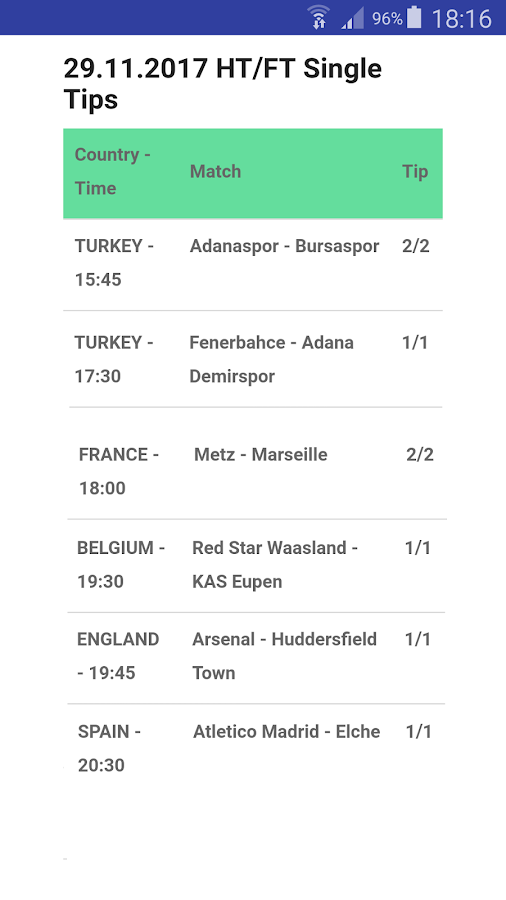 HT/FT Betting Tips VIP- screenshot