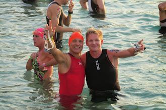 Photo: With Chef Gordon Ramsey at the swim start