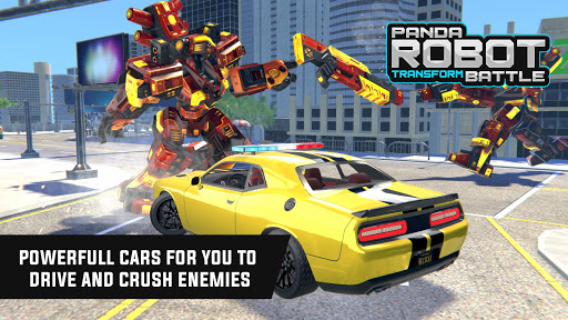 Police Panda Robot Car Transform: Flying Car Games apktram screenshots 12
