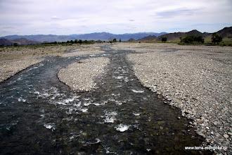Photo: Ручей впадает в реку Ховд
