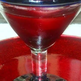 Pomegranate-Cherry VodkaTini.
