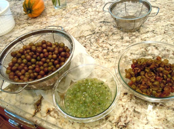 Make the Puree   Pop grapes out of hulls, place pulp and hulls in separate...