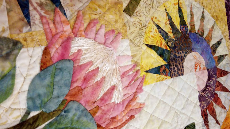 Cape Town Beauty by Wilma Havenga is one of the quilts to go on show at Travelling Quilts in PE