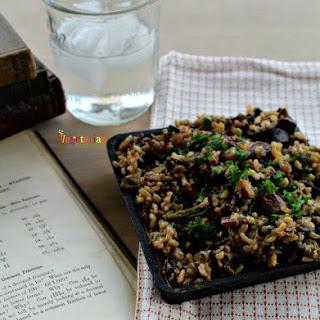 Mushroom Asparagus Wild Rice Recipe
