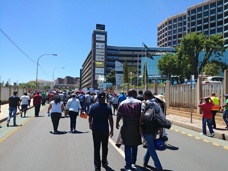 SABC staff members strike. Picture: SUPPLIED