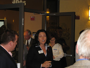 Photo: Karen Diebel speaking at the Mercantile Capital Corporation's Open House www.504Blog.com