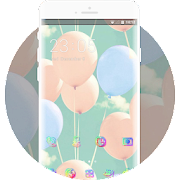 Blue-green pink purple sweet dream balloon theme APK