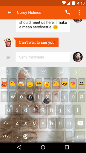 Cat Meow -Video Emoji Keyboard