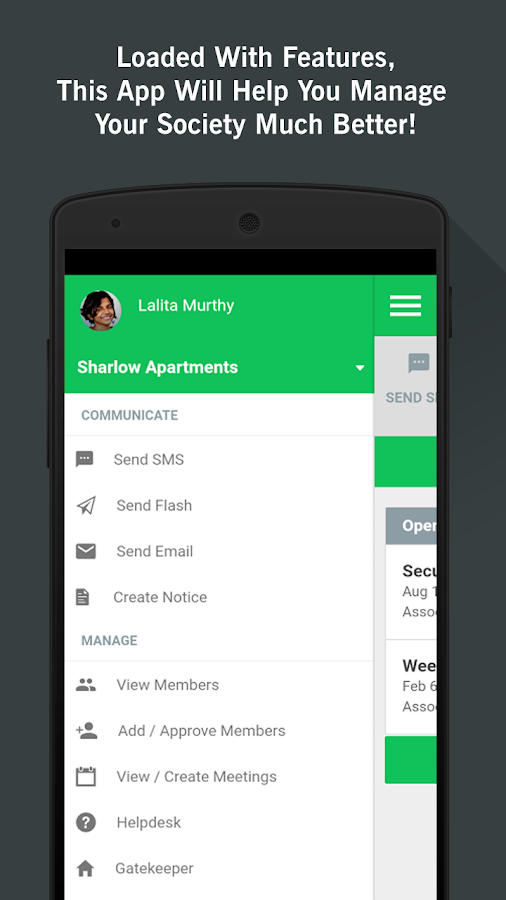 ADDA Admin App for RWA members- screenshot