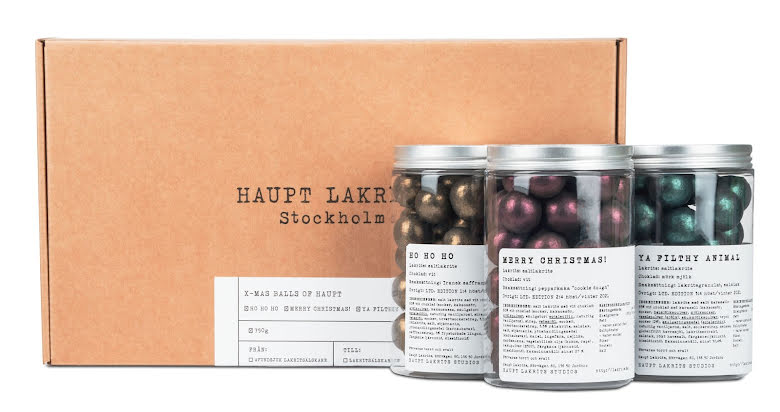 Presentlåda - X-mas balls of Haupt 2021 – Haupt Lakrits