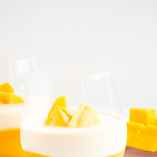 Refreshing Mango Panna cotta.