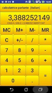 calcolatrice parlante - náhled