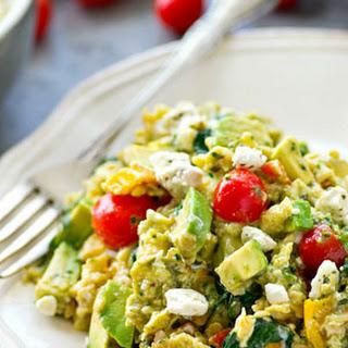 Garden Veggie Pesto Scrambled Eggs