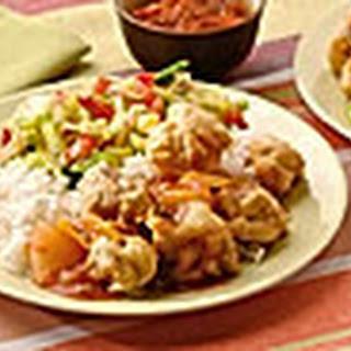 Ku Lo Yuk- krokante vleesblokjes met zoetzure vruchtensaus
