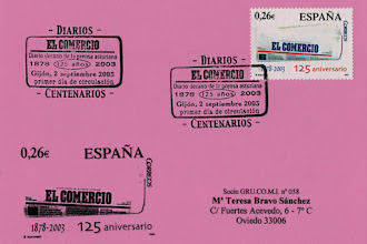 Photo: Matasellos del 125 aniversario del Comercio