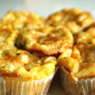 Mini Crustless Quiches with Zucchini and Swiss Cheese.