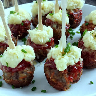 Meatloaf Poppers with Cheesy Potato Topping.