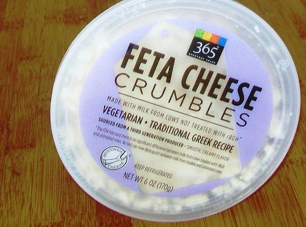 Bring the feta and cream cheese to room temperature.