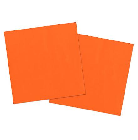 Servetter, orange, 20st