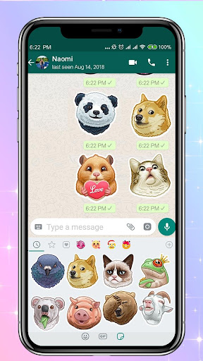 Funny Animal Emoji Stickers Packs 110 screenshots 1