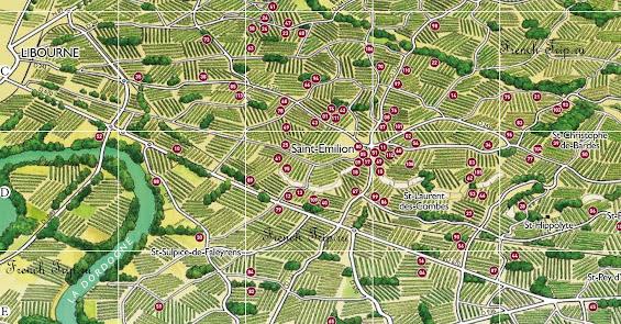 Винодельни вокруг Saint-Emilion (Сент-Эмильон), виноградники Бордо