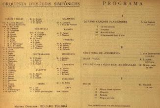 Photo: Quadern de dibuix de Joaquim Renart - Concert de la Orquestra d'Estudis Simfònics el 11 Juny 1927 © Biblioteca de Catalunya